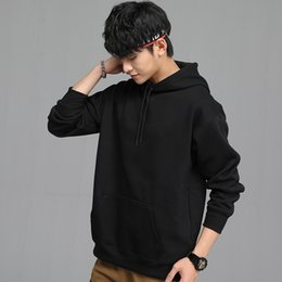 Korean yellow hoodie men s online shopping - Korean sytle mens designer casual hooded sweater luxury designer clothes autumn and winter plus velvet turtleneck hoodies for men
