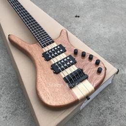$enCountryForm.capitalKeyWord Australia - Factory Custom 5 strings Electric Bass guitar, rosewood fingerboard, zebra wood body , chrome Hardware, Real photo