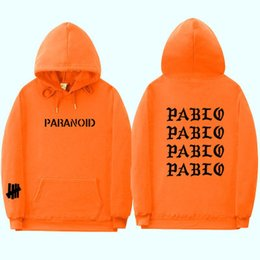 Venta al por mayor de 2019 Fashion Assc Club Brand Hoodie Sweatshirt Hombres y mujeres Paranoid Letter Print Hoodie Hombres Kanye West Pablo Anti-social Hoodi
