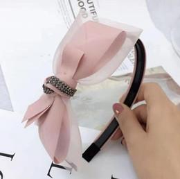 Headbands Bow Australia - luxury designer headbands Mesh with diamond version Toothed anti-slip bow headband female 28