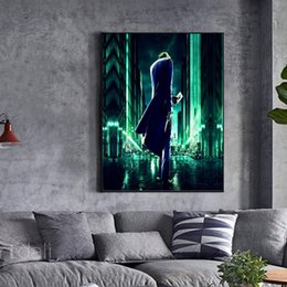 Batman Figure Wholesale Australia - Unframed Dark Knight Rises Joker Card Batman HD Digital Printing Canvas Oil Painting Home Wall Art Decoration Pictures posters