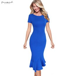 womens pinup dresses Australia - Womens Elegant Vintage Summer Pinup Wear To Work Office Business Casual Cocktail Party Fitted Dress Casual Dresses Mermaid Bodycon 1053