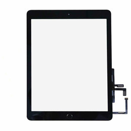 apple ipad touch tablet NZ - Touch Screen Panel Digitizer for Ipad 9.7 2017 A1822 A1823 Tablet With Home Button & Preattached Adhesive Replacement Parts Black White