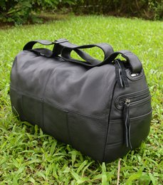 Wholesale MAHEU Genuine Leather Men Travel Bags Soft Real Leather Cowhide Carry Hand Luggage Bags With Shoulder Strap New Hot Selling