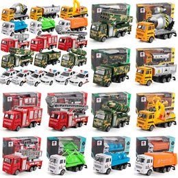 Green Truck Cars Australia - Children's Toys Model Toys Green Car Police Car Mixer Fire Truck Cement Truck Educational Toy Car ABS Shell Simulation Model