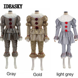 Red latex women costumes online shopping - Anime Costumes Stephen King s It Pennywise Cosplay Costume Adult Unisex Women Terror Clown halloween costumes for men adult mask