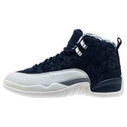 8bc19c5c402 Cheap!12 12s gym Red men women basketball Shoes College Navy Wolf Grey  gamma blue trainer Sports sneakers