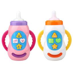 $enCountryForm.capitalKeyWord Australia - Baby Toys Kids Sound Milk Bottle Toys Safe Music Light Milk Bottle Musical Learning Educational Toys For Children Feeding Tool