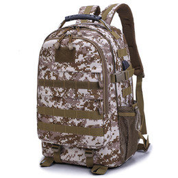 art chickens Australia - Army Fans Outdoor Sport Backpack Camouflage Tactic Both Shoulders Package Tourism Camp Work War Package Eat Chicken Three Package