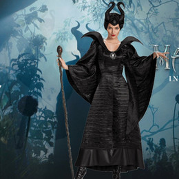Women Witch costume gothic online shopping - Movie Sleeping Beauty Maleficent Costume Halloween Carnival Fancy Cosplay Dress Up Plus Size XS XL High Quality