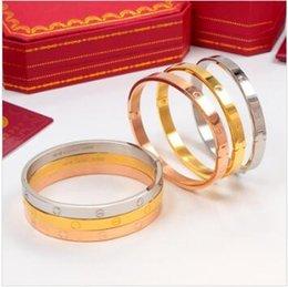 2019 homens e mulheres NOVO HOT Classics ama desenhadorJóias Cartier amor Rose ouro 316L ama pulseira de aço inoxidável pulseira nenhuma caixa venda por atacado