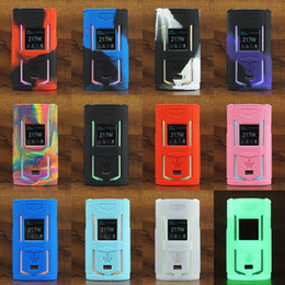 Vape mods for free online shopping - Voopoo X217 Silicone Case Silicon Skin Cover Rubber Sleeve Protective Covers For X W vape TC Box Mod e cigarette DHL Free