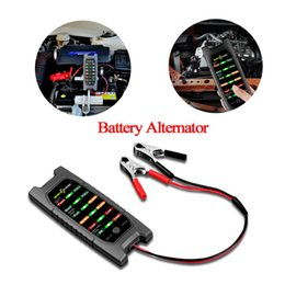 led testers 2019 - Car Repair Tool Diagnostic Tools 12V Car Battery Tester Alternator Check Analyzer Lead Diagnostic Tool with 6 LED cheap