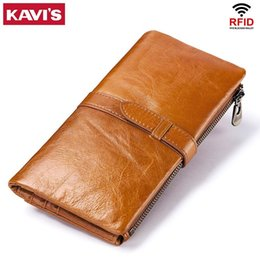 Handy Wallets Australia - Cow Genuine Leather Women Wallet Female Coin Purse Walet Portomonee Clutch Money Bag Lady Handy Card Holder Long For Girls