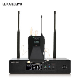 Uhf wireless headset online shopping - Professional stage performance QLXD4 microphone headset microphone system professional wireless UHF karaoke