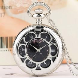 Discount watch pattern girls - Hollow Pocket Watch for Women Retro Star Pattern Quartz Pocket Watches for Girls Necklace Chain Watch Gift Lady