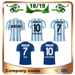 2019 Racing Club de Avellaneda Home Soccer Jerseys 18 19 Racing Away  7 BOU   8 FERNANDEZ  10 CENTURION 3rd Football uniform 4263aaad2