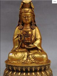 Tibetan Buddhism Hand painting resin gilt statue Wei Tuo Bodhisattva