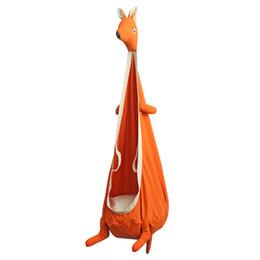 Kangaroo Cadeira de Baloiço Hammocks interior Hanging Outdoor assento Swing Kids assento Mobiliário de Jardim dos desenhos animados Balanço Viveiro Móveis 1pcs CCA11696-A em Promoção