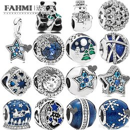 sterling silver panda charm Australia - WPENNYI 100% 925 Sterling Silver 1:1 Charm Vintage Night Sky Sweet Panda Mixed Enamel Royal Blue Galaxy MIDNIGHT BLUE ORBIT SNOW BRIGHT