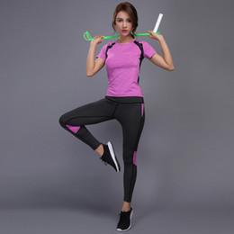 be112366efe Women Yoga Set Gym Fitness Clothes Tennis Shirt+Pants Running Tight Jogging Workout  Yoga Leggings Sport Suit plus size  297654