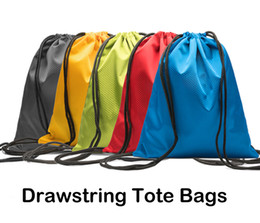 sack shoes UK - Kids' Clothes Shoes Waterproof Bag 600D Oxford Cloth Drawstring Bags Sports Gym Dance Backpack 5 Colors Shopping Storage Folding Bag M36F