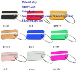 Wholesale New Aluminum Alloy Luggage Tags Suitcase Travel Bag Labels Holder Name Card Straps Suitcase Name Pet Tags