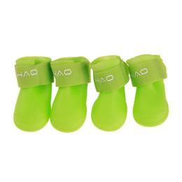 $enCountryForm.capitalKeyWord Australia - Protective Rain Boot 8 Colors 4pcs Pack Pet Rain Boots Outdoor Non-slip Durable Pet Rain Shoes Small Dog Large Dog Waterproof BC BH0982-5