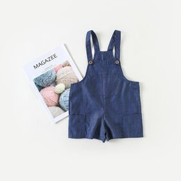 2552bad5d566 New 2018 Summer Girls Shorts Fashion Baby Girl Soft Denim Shorts Overalls  Kids Boys Cotton Jeans Suspenders Shorts Jumpersuits