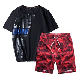 $enCountryForm.capitalKeyWord UK - Summer New Men's Set Short Casual Suits Sportswear Mens Clothing Man Two Pieces Fashion Print Sets Men Brand Plus Size L-8XL