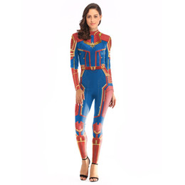 Jumpsuit Anime UK - Marvel Heroes Avengers Endgame 4 COS Costume Adult surprise captain jumpsuit cosplay tights anime Costume
