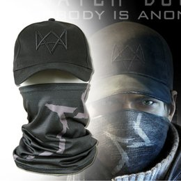 $enCountryForm.capitalKeyWord Australia - mask Watch Dogs Face + CAP Hat Aiden Pearce Costume Cosplay Scarf Top Sale