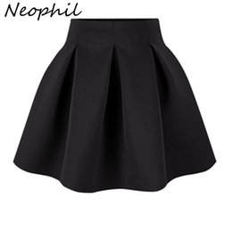 space balls NZ - Neophil 2019 Winter Black Red High Waist Plus Size Pleated Space Cotton Ball Gown Short Mini Skirts Girls School Work Wear S0907
