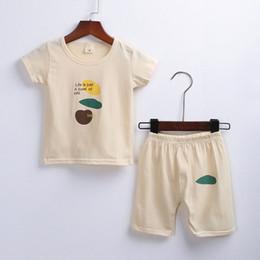 $enCountryForm.capitalKeyWord Australia - Baby Boys Girls Summer Clothes Fashion Cotton Set Printed Sports Suit For A Boy T-Shirt + Shorts Children'S Clothing