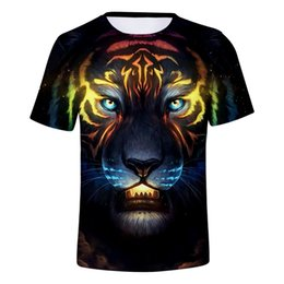 3d Tee Shirts Animals Australia - 2019 Hot Selling Brand 3d T-shirts Tiger Animal Shirts 3d Print Cool T-shirt Men women Short Sleeve Summer Fashion Tops Tees
