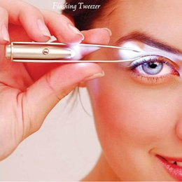 $enCountryForm.capitalKeyWord Australia - Make Up Beauty Tool Stainless Steel LED Eyebrow Tweezer With Smart LED Light Non-slip Eyelash Eyebrow Hair Removal Tweezers Clip BC BH1212