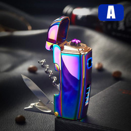 $enCountryForm.capitalKeyWord NZ - Colorful Multiple Uses USB Charging ARC Lighter Zinc Alloy Portable Innovative Design For Tobacco Cigarette Smoking Pipe Hot Cake DHL