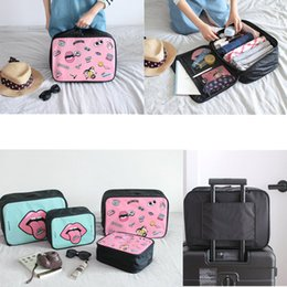 lip print bag Australia - Kiss the Rain Lip Folding Travel Storage Bag Carry-On Hand Luggage Organizer Tote Large Foldable Duffel Handbags New Women Pack Pouch A42904
