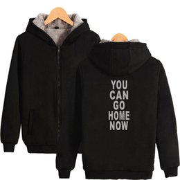 $enCountryForm.capitalKeyWord Australia - BTS Hip Hop You Can Go Home Now Long Sleeve Zipper Hoodies Sweatshirt Harajuku Kpop Men Clothes 2019 Print Plus Size 4XL