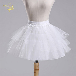 $enCountryForm.capitalKeyWord Australia - Top Quality Stock White Black Ballet Petticoat Tulle Ruffle Short Crinoline Bridal Petticoats Lady Girls Child Underskirt