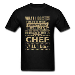 Chef Prints Australia - IM A CHEF T-shirt Mens T Shirt Vintage Letter Print Tshirt Summer Black Clothes Cotton Tops & Tees Funny Designer Streetwear