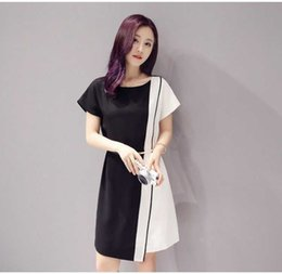 9021a8195a09 Office Lady Style Dresses Skirt Short Sleeve 2016 Summer Clothing One Piece  Dress Pencil Skirt Professional Women Clothes Color Patchwork