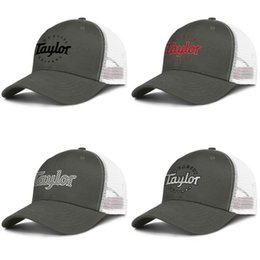 guitar caps 2019 - Mens Quality Taylor Guitars music mini bass Mesh Caps Women Cotton Ventilation truckers Hats Plaid printing Vintage old