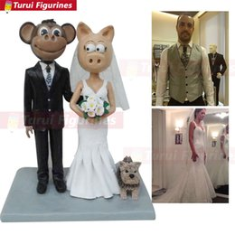 $enCountryForm.capitalKeyWord Australia - wedding cake topper figures custom Couple Bobblehead mini me couple statue golfer harley davidson custom made bobble head dolls