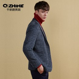 8c7bec9036ac QZHIHE New Fashion England Style Leisure Single Breasted Suits Men High End  Daily Casual V-neck Jacket Solid Slim Notched Coat