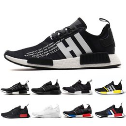 dad71c3f8 2019 NMD R1 Cheap atmos Bred Running Shoes Tri-Color OG Classic Men Women  Japan Triple Black white Red Marble Sports Trainer Sneakers 36-45