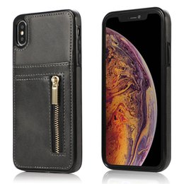 Zipper For Case Australia - Zipper Phone Case PU Leather Cover Multifunction Wallet TPU Back Cover With Card Slot Case For iPhone XS MAX XR 8 7 Plus