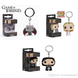 $enCountryForm.capitalKeyWord Australia - Funko Pocket POP Keychain - Drogon Game of Thrones Vinyl Figure Keyring with Box Toy Gift Good Quality T553