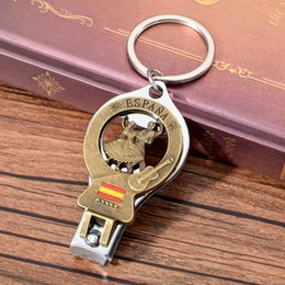Chinese  Vicney Spain Dancer Keychain Nail Clipper Cutter Key Chain Beer Opener Keyring For Key Espana Souvenir Jewelry Gift For Friend manufacturers