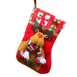 Decor Ornament Australia - Candy Bag Christmas Gifts Tree Ornament Stocking Santa Claus Snowman Sock Decor Xmas Tree Hanging Ornaments decorations F301129